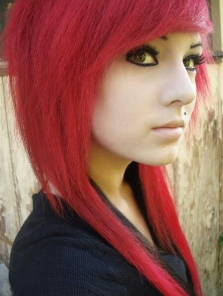 Emo girlHair Colors, Red Hair, Red Scene Hair, Hair Redheads, Redhair, Girls Inspiration, Scene Girls, Pale Red, Inspiration Design