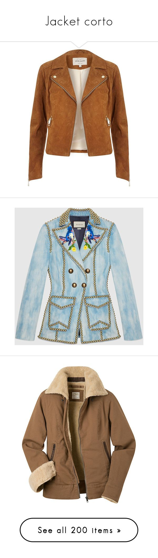 Jacket corto by georginalan on Polyvore featuring polyvore, women's fashion, clothing, outerwear, jackets, coats & jackets, casacos, coats / jackets, sale, tan, women, biker jackets, brown moto jacket, brown motorcycle jacket, tan moto jacket, tan jacket, gucci, denim, ready-to-wear, embroidered jackets, denim jacket, gucci jacket, studded denim jackets, lapel jacket, brown, brown jacket, sheep fur jacket, brown shearling jacket, mountain khakis jacket, green, colorblock jackets…