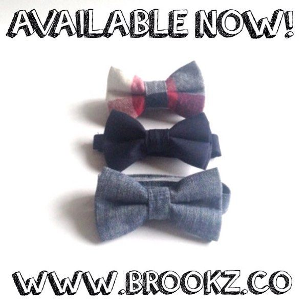 The time we've all been waiting for is here! Our 3 NEW bowties being added to our fall collection are up on site! YAY!! From top to bottom: lumberjack, navy and charcoal bow tie! Head over to ✖️www.brookz.co✖️ now to grab your little one! Happy shopping loves!!❤️