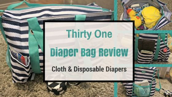 Thirty One Diaper Bag Review for both cloth diapers and disposable diapers.  Great bag! There's a giveaway too!
