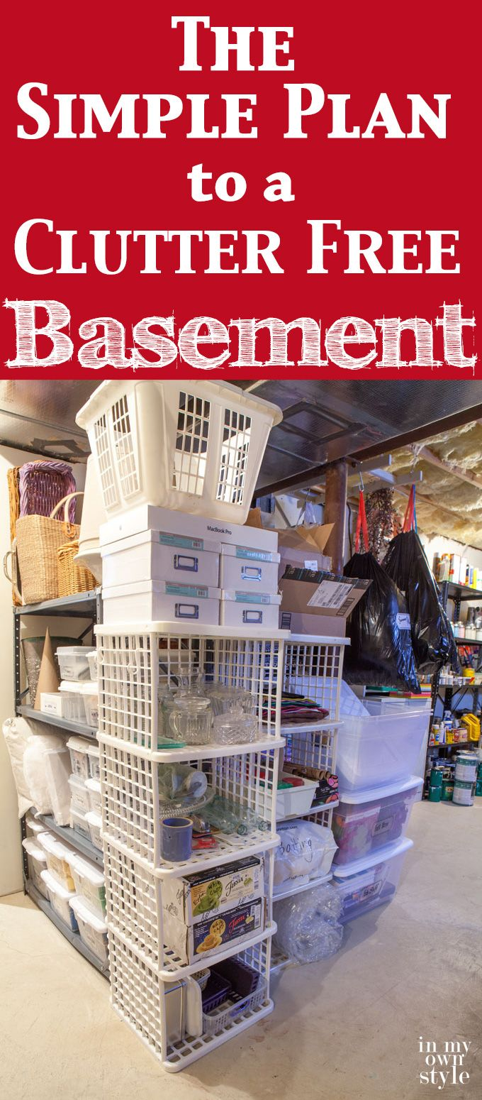 how to declutter and clean out your basement and then keep it that way