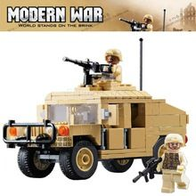 235 stks set moderne oorlog militaire vervoer carrier humvee cargo troop bewapening swat bouwstenen toys compatibel met lego(China (Mainland))