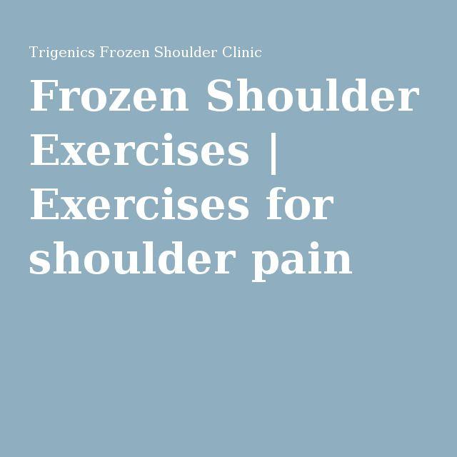 Frozen Shoulder Exercises | Exercises for shoulder pain