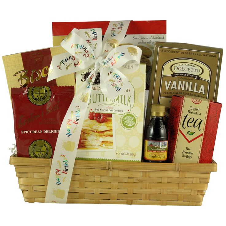 Rise and Shine On Your Birthday: Gourmet Breakfast Gift Basket, Red