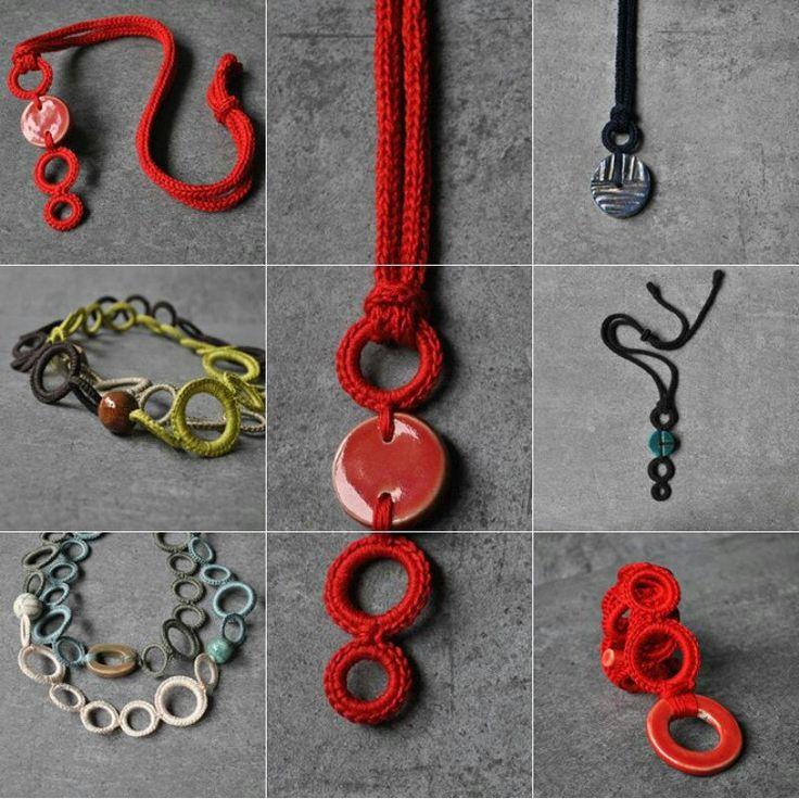 Red Aliquid Ceramic Pendant
