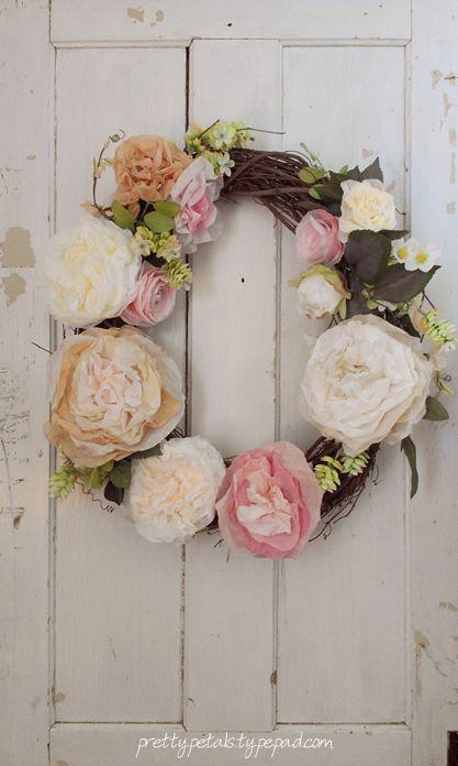 shabby rose wreath