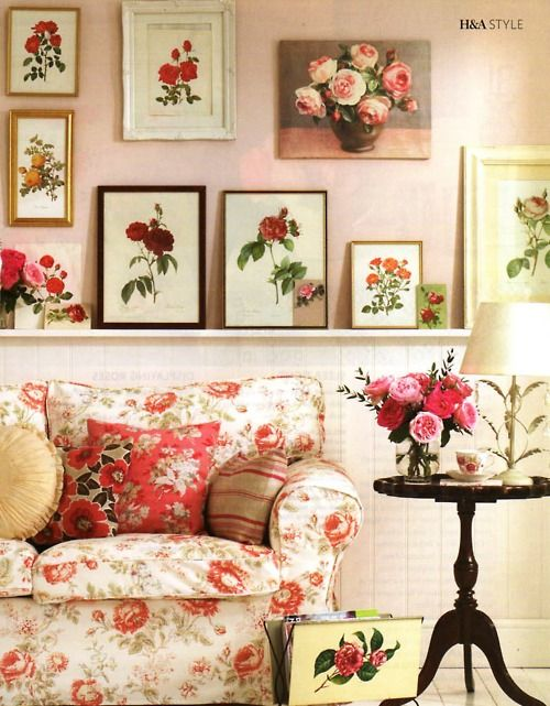 39 best canap s fleuris images on pinterest floral for Cubre canape zara home