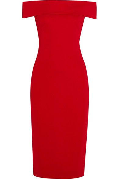 Cushnie et Ochs - Layla Off-the-shoulder Stretch-cady Dress - Red