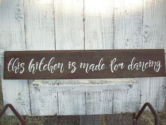 High Quality This Kitchen Is For Dancing Kitchen Sign / Rustic Kitchen Sign / Reclaimed  Wood Sign /