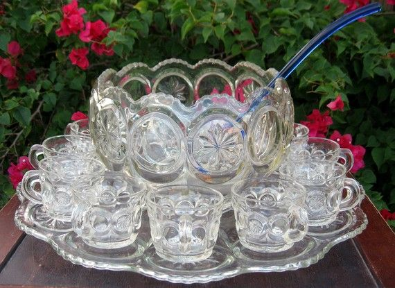 Vintage Punch Bowls . Read more: http://cdiannezweig.blogspot.com/search?q=Punch+Bowl
