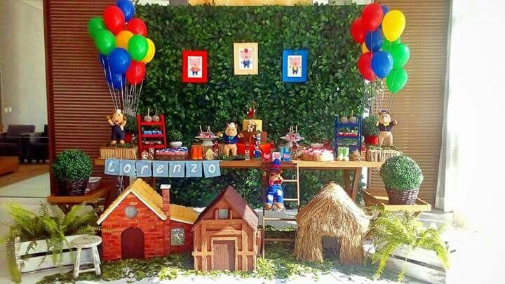 Decoração dos Três Porquinhos  festa dos Três Porquinhos #decoraçãodostresporquinhos #decoraçãodostresporquinhos #festadostresporquinhos #tresporquinhos #ostresporquinhos #bethdecora #beth_decora #elisabethschauerte whattsapp (11) 98325-2545