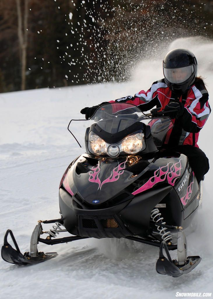 Drive a snowmobile, a fun thing to do in the snow! Go
