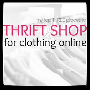 Thrift shopping online is a great way to save money on clothes. Here are my favorite three places to buy online thrift store clothes.