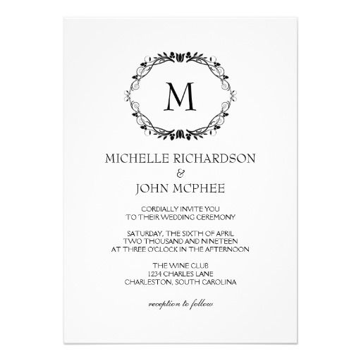 Wedding Invitation | Monogram