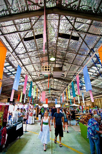 The Old Bus Depot Markets is a weekly hand made markets held in the former ACT bus depot building located on Wentworth Avenue within the Kingston foreshore precinct  in Canberra, ACT. The market provides a quality market experience and was acknowledged with induction into the Australian Tourism Awards Hall of Fame in 2005. I've been there!
