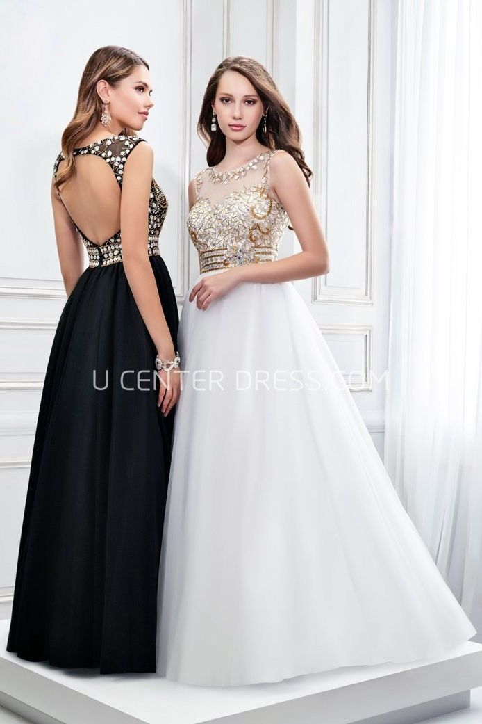 $146.19-Chic Sleeveless Scoop Neck Crystal Satin Evening Gown with Open Back. http://www.ucenterdress.com/sleeveless-scoop-neck-crystal-satin-prom-dress-with-keyhole-pMK_300312.html.  Shop for affordable evening gowns, prom dresses, white dresses, party dresses for women, little black dresses, long dresses, casual dresses, designer dresses, occasion dresses, formal gowns, cocktail dresses . We have great 2016 Evening Gowns on sale now. #evening #gowns