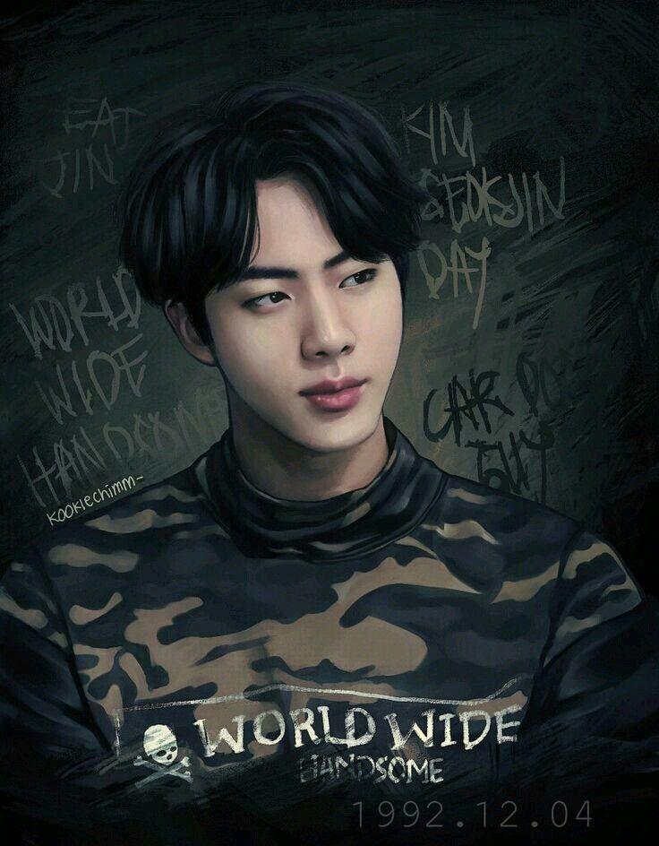 صور بانقتان Bts Fanart Fan Art Bts Jin