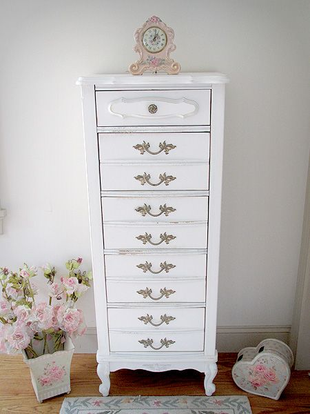 French Provencal Tall Boy Chest