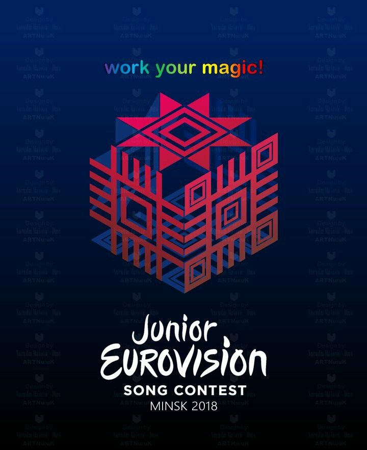 My logo idea for ///////// Junior Eurovision Song Contest Belarus // Minsk  2018 ///////// WORK YOUR MAGIC! @junioreurovisionofficial #logo #idea-s #junioreurovision #eurovision #song #contest#minsk #belarus #2018 #europe #designe#theme #artwork #graphicdesign#followforfollow #follow4follow #like4like#followme #euro #festival #music #ornament#art #artist #graphic #excel #cube #symbols#traditional @Белтелерадиокомпания @eurovision #junior @Евровидение-Беларусь