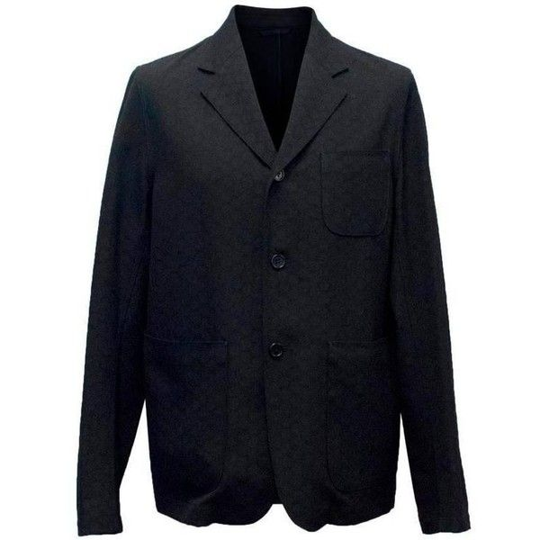 Preowned Marni Men's Black Jacquard Wool Blazer (£380) ❤ liked on Polyvore featuring men's fashion, men's clothing, men's sportcoats, black, blazers, mens wool blazer, men's apparel, mens blazers, mens blazer jacket and mens clothing