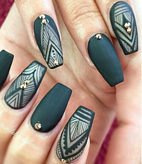 Best 25+ Matte nail art ideas on Pinterest | Matte black nails, Matte black  nail polish and Mat nail polish - Best 25+ Matte Nail Art Ideas On Pinterest Matte Black Nails
