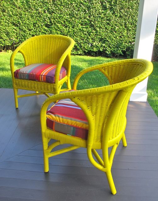 Need To Spray Some Yard Wicker Furniture This Summer Painted