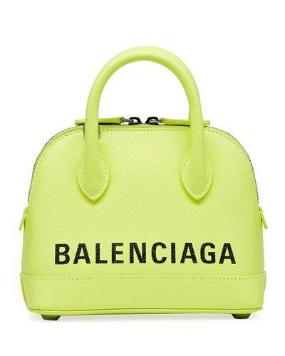8c741984d98c62 BALENCIAGA | Ville XXS AJ Top-Handle Bag with Logo - Green | CAD 2,464.36 |  Balenciaga