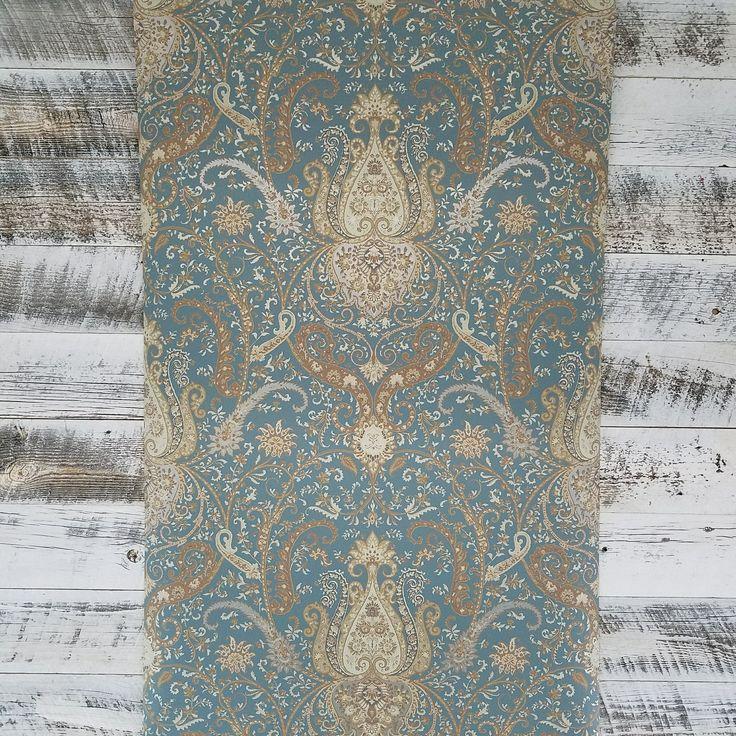 Waverly Byzance Blue Damask Wallpaper WA7721 Damask