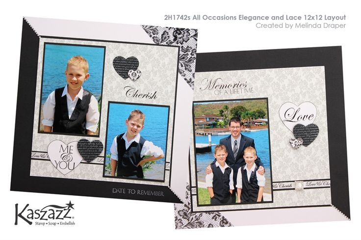 Kaszazz workshop 2H1742s All Occasions Elegance and Lace 12x12 Layout