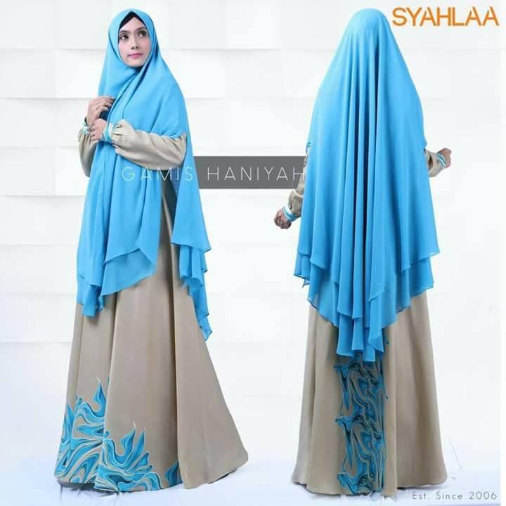 gamis haniyah Size S M  Bahan dress: Full Maxmara Bahan khimar: ceruti LV Dada : Resleting Tangan : Kancing Pemesanan: BBM : 5372BED5 WA : 081519480738