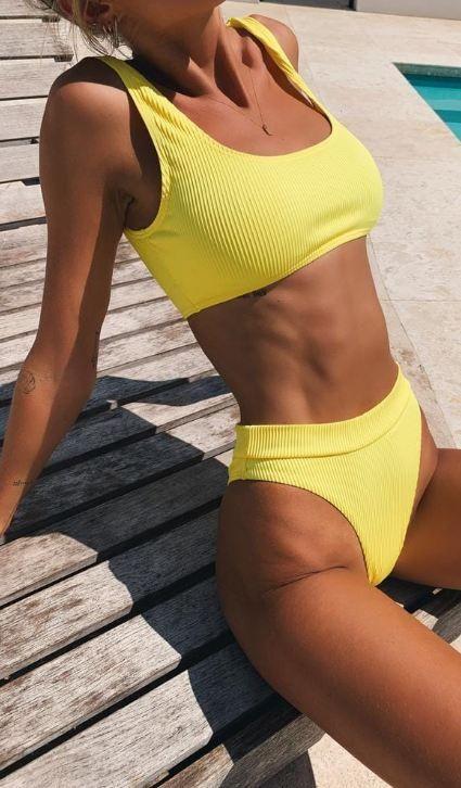 Hot Yellow Bikini Sets kaufen   – mode – #Bikini #Hot #kaufen #mode #Sets #Yello…