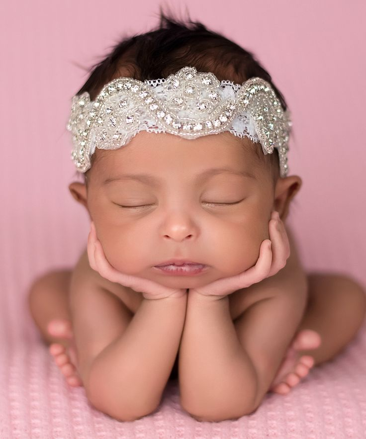 The Tiny Blessings Boutique White Lace Rhinestone Halo Headband | zulily