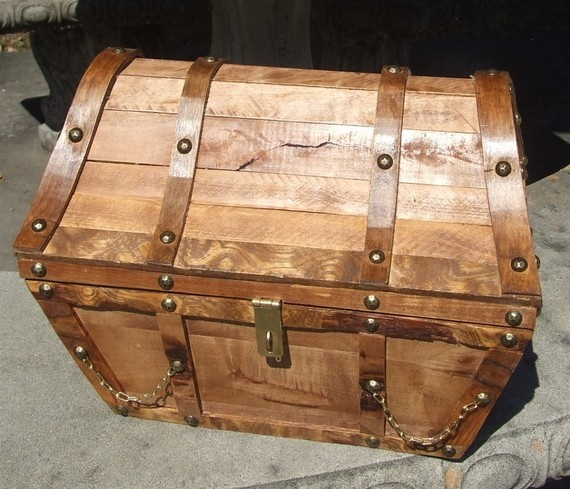Treasure Chest For His Toy Box Love It Wooden Chest Treasure Chest Antique Trunk
