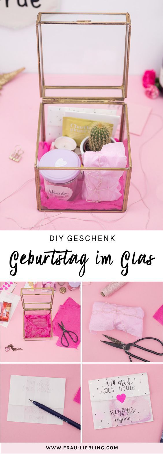 DIY Gift: Give a birthday in a glass originally