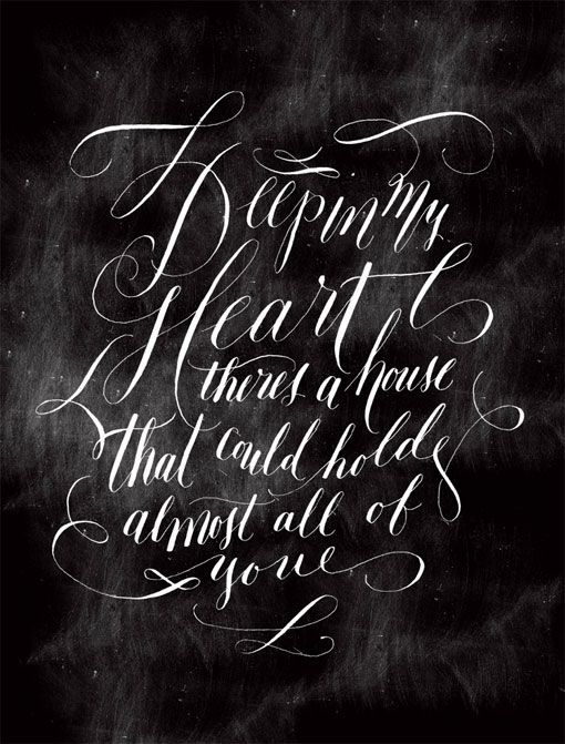 Molly Jacques: Lettering and Calligraphy: Design Inspiration, Molly Jacques, Quote, Hands Letters, My Heart, Heart Graphics, House, Typography Art, Typography Inspiration