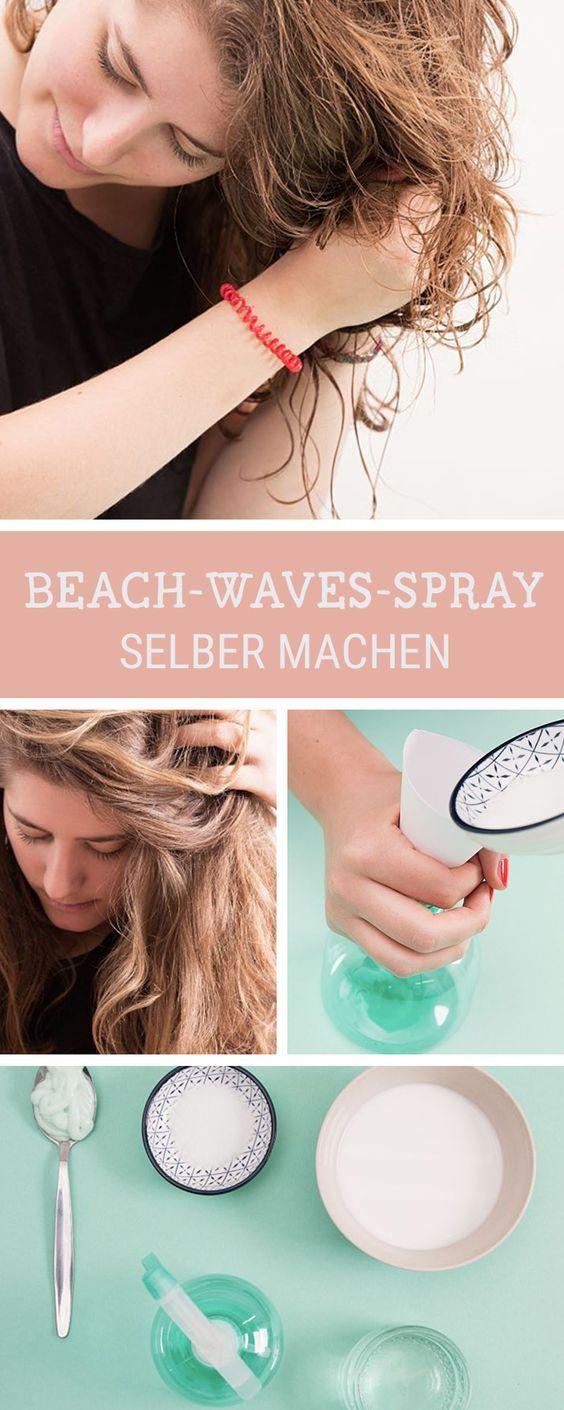 Beauty-DIY: Der perfekte Sommer-Look für Deine Haare. Wir zeigen Dir, wie Du Dir ein Beach Waves Spray selbermachst / get the perfect beach waves with a homemade hair spray via DaWanda.com