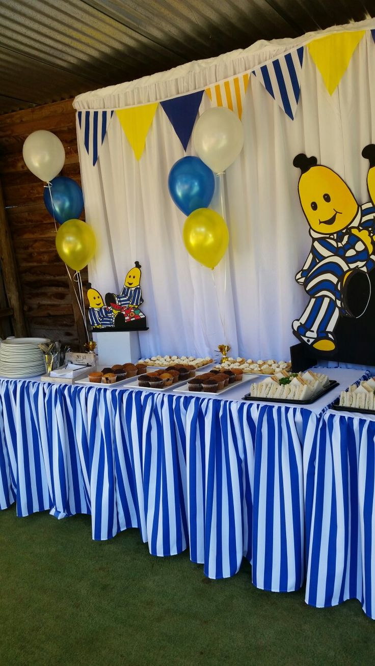 Bananas in Pyjamas party styled by Party Princess