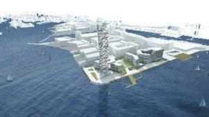 Opgiver Lighthouse på havnen