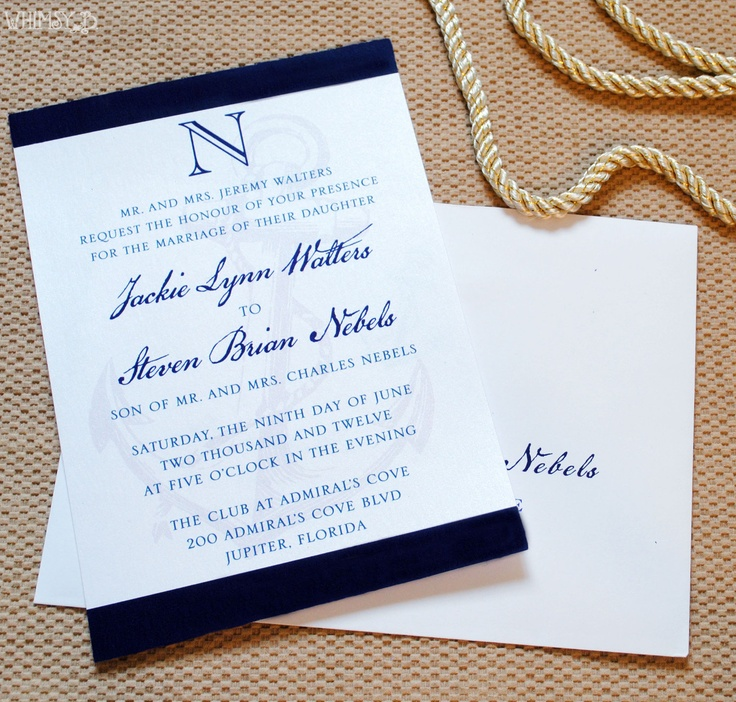 tie the knot wedding invitations etsy%0A Nautical Anchor Wedding Invitation  Nautical Wedding Invitations  Nautical  Wedding Suites with Belly Band