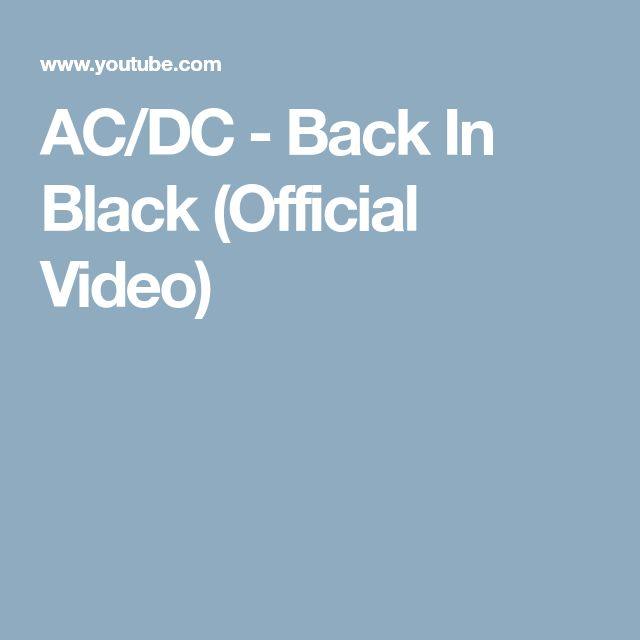 AC/DC - Back In Black (Official Video)