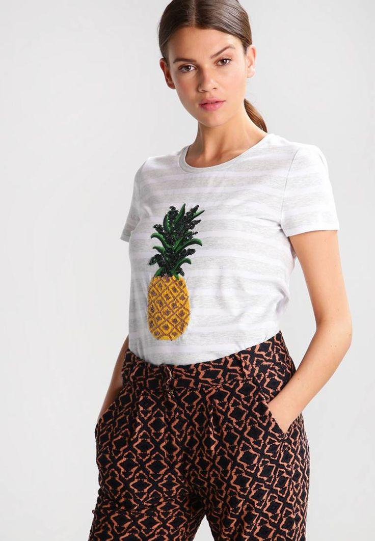 banana republic signature big pineapple t shirt print grey sky modelgr e unser model ist. Black Bedroom Furniture Sets. Home Design Ideas