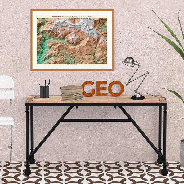 P. N. de Ordesa y Monte Perdido. #mapas #cartography #interiordesign #toquedecor #topografia #montaña #senderismo #creatumapa #poster #geogragift #torla #broto #ordesa #monteperdido #huesca
