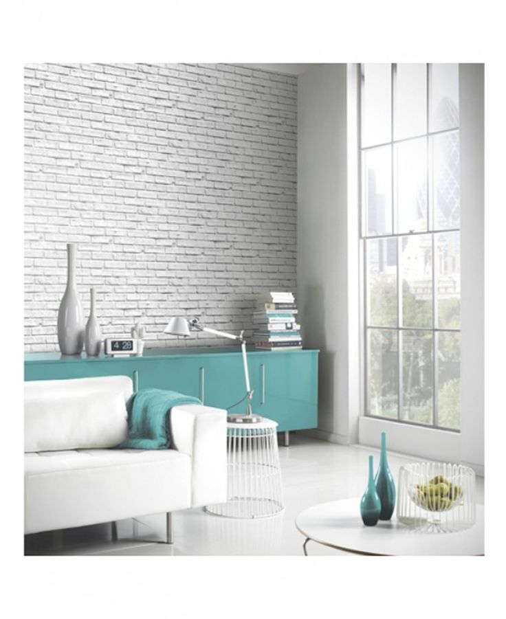 This fantastically realistic White Brick Wallpaper by Arthouse is perfect for feature walls and entire rooms, allowing you to give your home an affordable makeover that won't compromise on style or quality