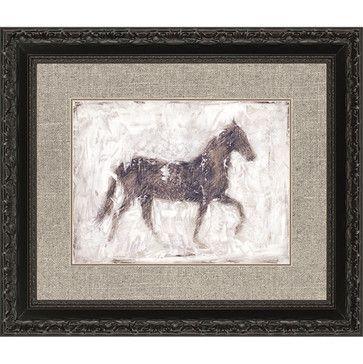 Equine Silhouette I, Framed Art transitional-mixed-media-art