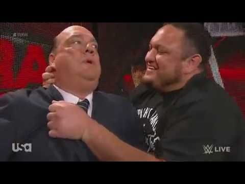 Samoa Joe Warns Paul Heyman WWE Raw, June 26, 2017