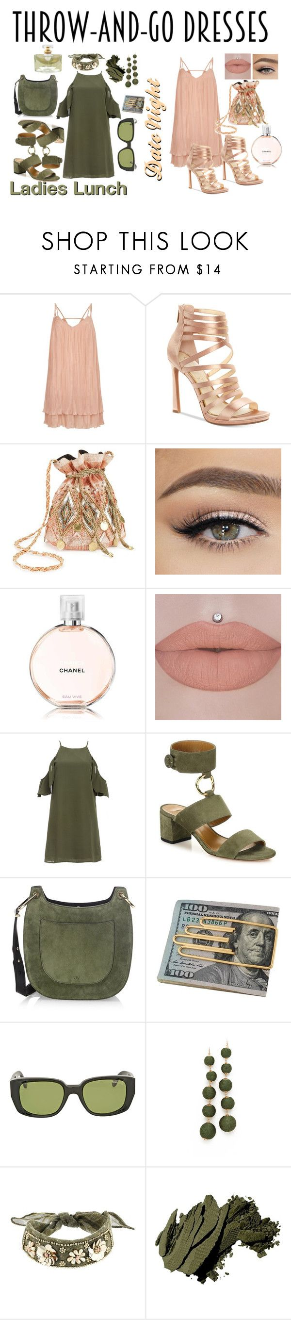 """""""Untitled #104"""" by jes4me530 on Polyvore featuring River Island, Jessica Simpson, Miss Selfridge, Chanel, Aquazzura, Jason Wu, Cartier, Tom Ford, Shashi and Betsey Johnson"""
