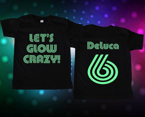Lets Glow Crazy Party Shirt Blacklight