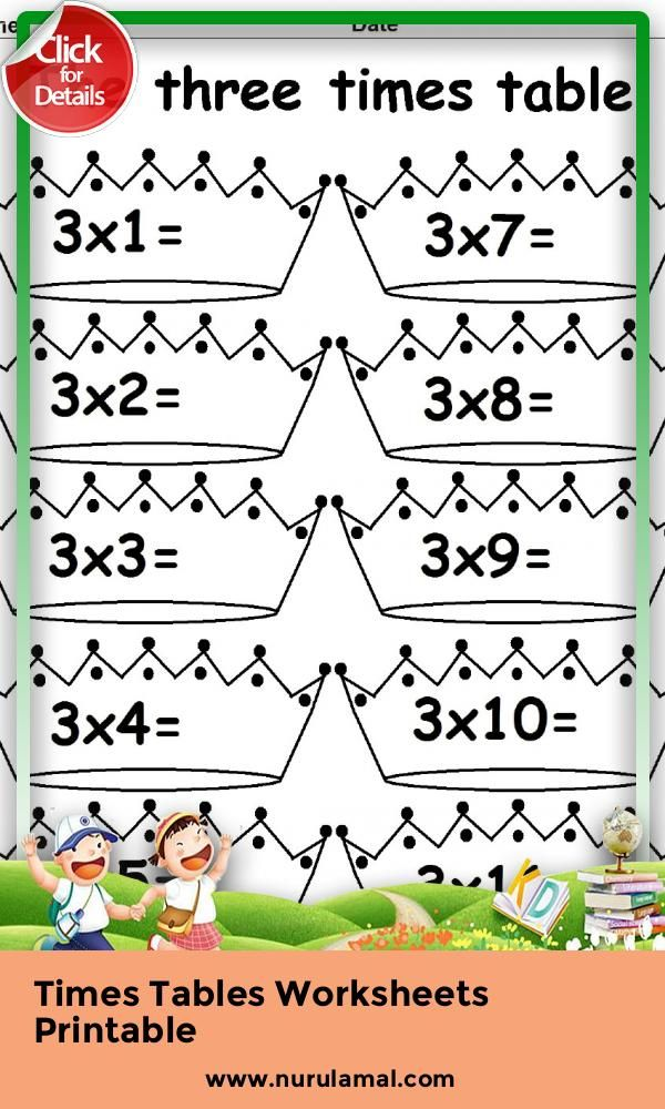 Times Tables Worksheets Printable Kids Math Worksheets Worksheets For Kids Free Printable Math Worksheets