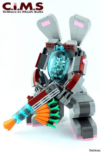 This puts Bugs Bunny in a Whole new light! Bunny Mech with an assault Carrot Rifle