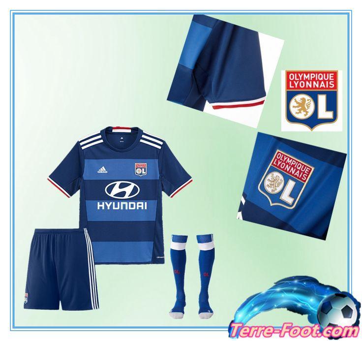 Nouveau Maillot de foot Lyon ol 2016 2017 Exterieur Enfant Bleu